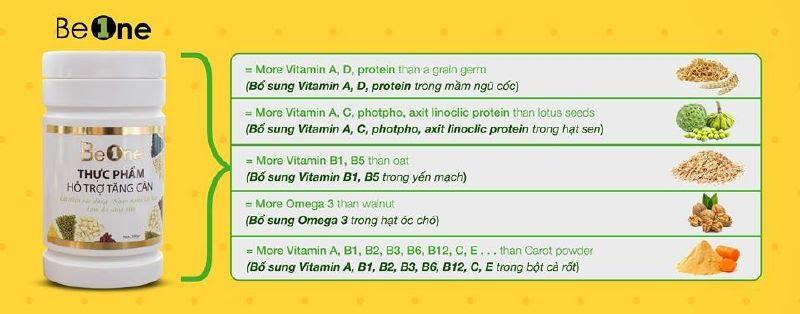 Các loại di dưỡng vitamin trong ngũ cốc Beone