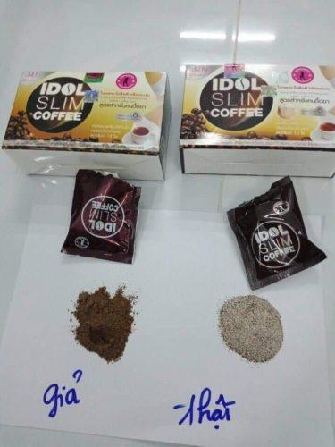 Chất bột hoàn toàn khác nhau giảm cân idol slim thật và giả
