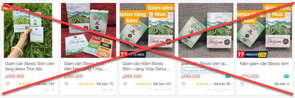 Sản phẩm giá rẻ trên trang TMĐT
