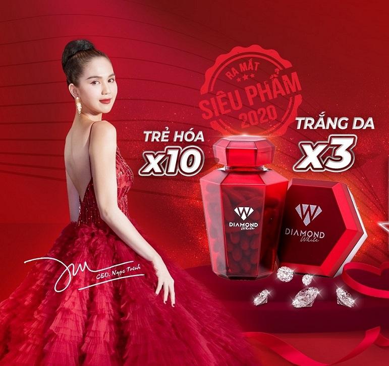 Viên Uống Trắng Da Diamond White cùng CEO Ngọc Trinh