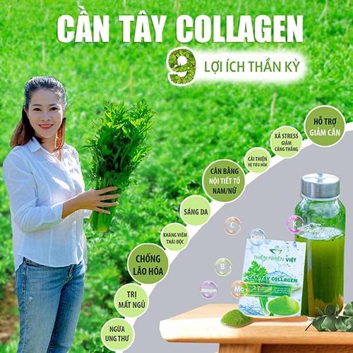 Cần Tây Collagen mang đến nhiều công dụng với thành phần tự nhiên